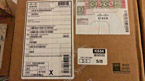 "New sealed Cisco UCS-HDD300GI2F105 300GB 15K SAS 2.5"" HDD"