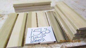 #1563 TUP 20 PCS TULIP HARDWOOD OFFCUTS 300X60X10-MM MODELMAKING  DIY p.a.r.