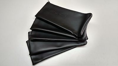 5x Black Leather Shure Mic Protective Storage Bags Pouches for SM58 SM57 Mics