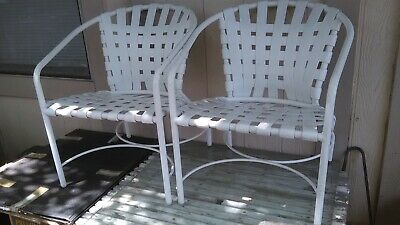 PR MID CENTURY MODERN BROWN JORDAN ALUMINUM OUTDOOR DECK FURNITURE LOUNGE CHAIRS Brown Modern Lounge Chairs
