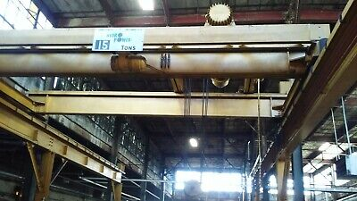 Hydro Power 15 Ton Capacity 17 Span Overhead Double Girder Bridge Crane Rails