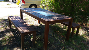 Solid wood outdoor setting in good condition Cannington Canning Area Preview