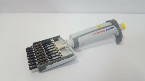 Eppendorf Research Plus 8 Channel 10 - 100 µL uL Pipettor Pipette Multichannel