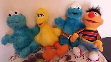 SESAME STREET CHARACTERS - LOT OF 4 Collingwood Park Ipswich City Preview