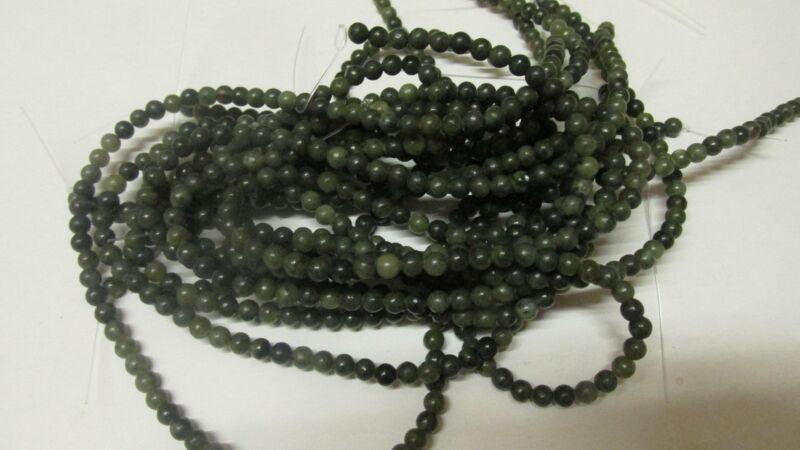 GENUINE CONNEMARA MARBLE 4mm Round beads drilled thru x 100 Guaranteed Irish