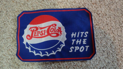 PEPSI COLA  SODA  HITS THE SPOT SODA BACK PATCH  OLD NEW STOCK  BX W
