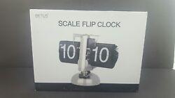 Betus [Retro Style] Flip Desk Shelf Clock - Classic Mechanical-Digital Display