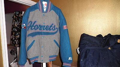 Vintage Charlotte Hornets Throwback Wool Varsity Starter Jacket Medium Mint!