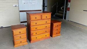 Chest of drawers with matching bedside tables Smithfield Cairns City Preview