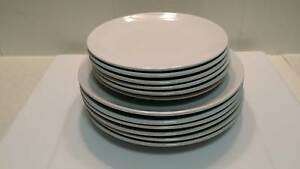 12 piece white dinner plates set Petersham Marrickville Area Preview