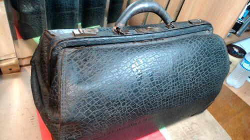 "VINTAGE-  Large- Leather Doctor""s  Carry Bag"