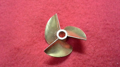 Brass Propeller 3 Blade - 3 blade brass propeller prop 434 for 3/16