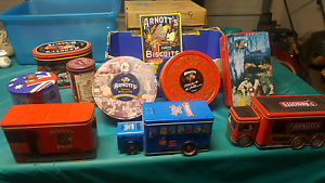 Collection of Arnotts biscuit tins (9 in total) Merrimac Gold Coast City Preview