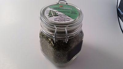 Moringa Herbal Tea for Sale: 4.5oz of organic Moringa herbal tea in a glass jar.