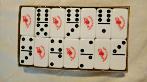 Vintage Marblelike Double 6 Professional Dominoes New Sealed