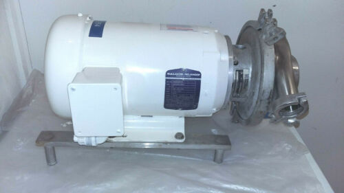 Waukesha Cherry Burrell 5 hp Centrifugal pump with Baldor 3450 RPM motor
