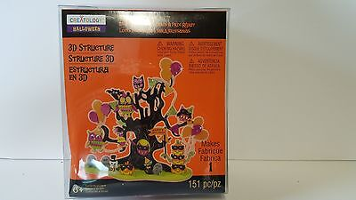 Halloween Creatology Foam 3D Structure Kit 6+ 151pc Haunted Tree NIP - Creatology Halloween 3d Foam Kit