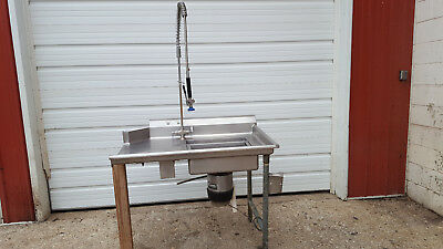 Stainless Steel Right Side Soil Table Sink 45 X 30 X37 7 Bs Sprayer Disposal