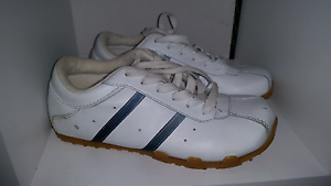 Brand new white shoes with 2 blue stripes $10 St Albans Brimbank Area Preview