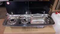 Smev Dometic 9222 Campervan Sink & Hob Combi Unit With Cold Tap & Template Rh - dometic / smev - ebay.co.uk