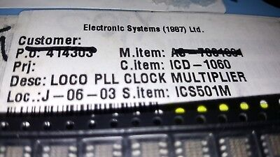 10x Ics Ics501m Ic Pll Clock Multiplier Single Soic-8