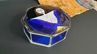 Old Art Glass Box Signed ABO 1990 …beautiful collection and display piece