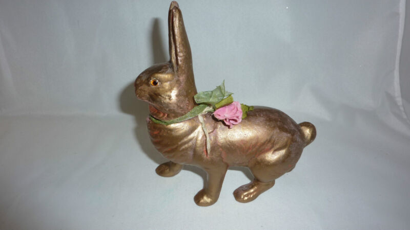 Vintage Germany Rabbit Bunny Candy Container 6 Inch