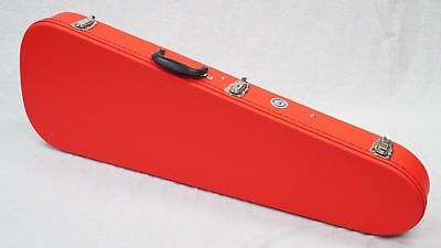 Teardrop Candy Red Guitar Case with Black Plush Lining