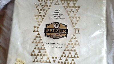 Vintage PELZER muslin sheet 81 x 99 before hemming KENDALL COMPANY NEW YORK CITY