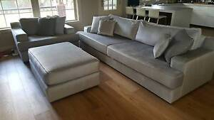 Premium Australian Made Fabric Lounge, Chair and Ottoman Belfield Canterbury Area Preview