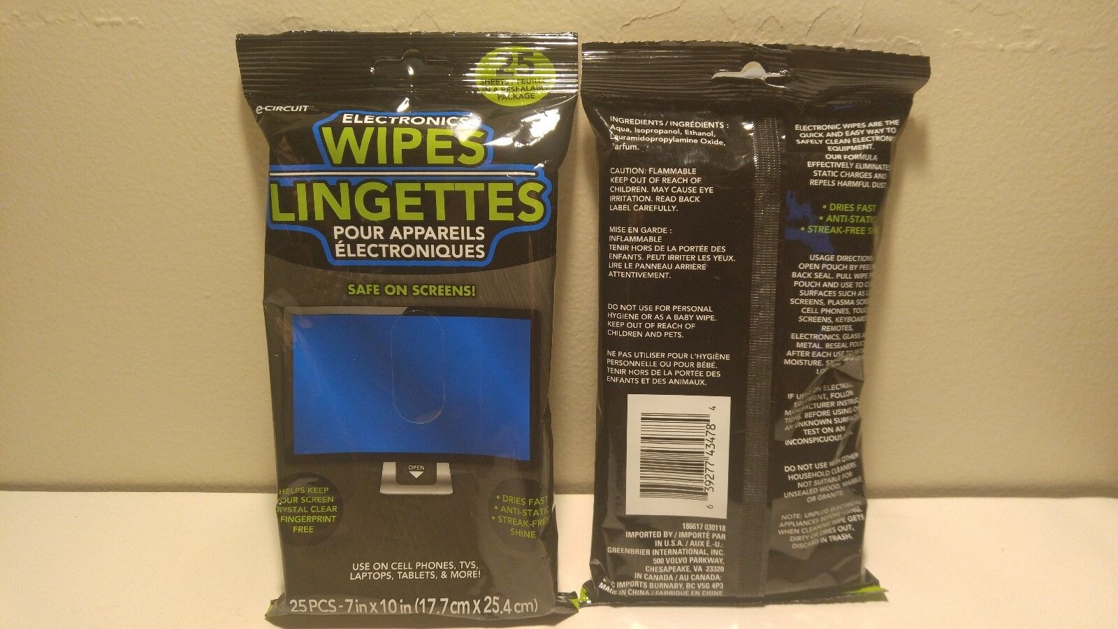 New Qty 50 Electronic Cleaning Wipes LCD Screen Monitor TV L