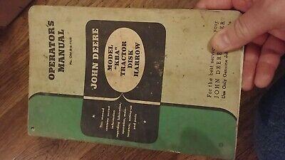 John Deere Disk Harrow Model Kba Om-b16-1150 Operators Manual