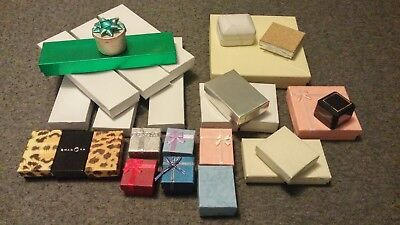 Lot Of 28 Jewelry Gift Boxes New And Used