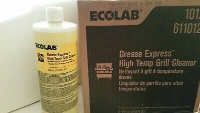 Lot 6 Bottles 32 Fl Oz Each Case Ecolab Grease Express High Temp Grill Cleaner