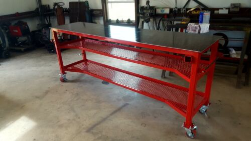 Welding Table 2x8x38 with 1/4-inch top / locking casters