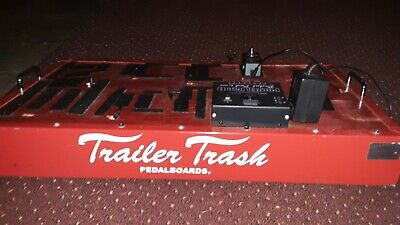 Trailer Trash Red Pedal Board with Pro Grade ATA Touring Case, Power Brick