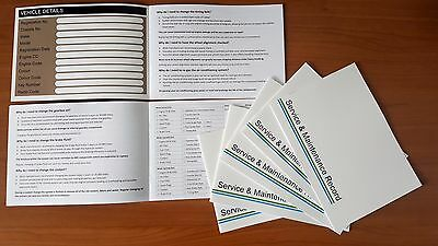 10 x Mazda Service History Book - Blank Replacement Log MX-5  2 3 5 6 CX-5 RX-8