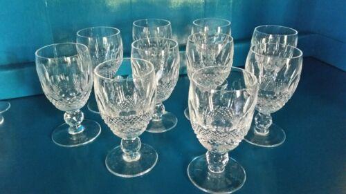 "Waterford Crystal, COLLEEN pattern, set of 10 short stem, 4.5"" goblets"