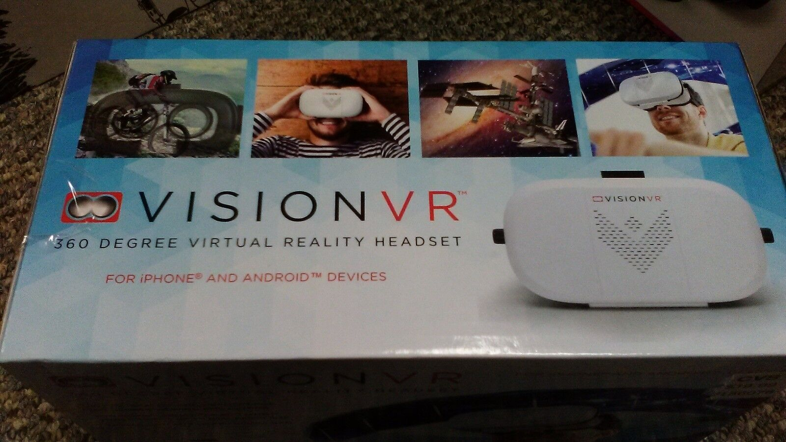 VISION VR 360 DEGREE VIRTUAL REALITY HEADSET FOR iPHONES & ANDROIDS NEW IN BOX