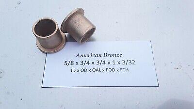 "1pc AMERICAN BRONZE Made In USA 3//4/""x 1 /""x 1.5/"" Bronze Bushing"