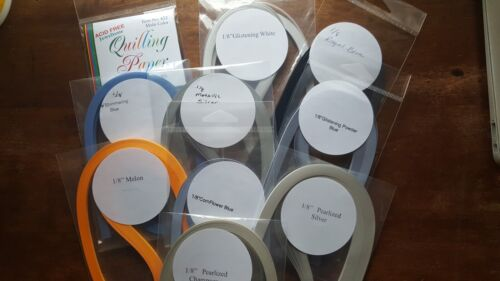 QUILLING PAPER ASSORTMENT OF COLORS 1/8 WIDE
