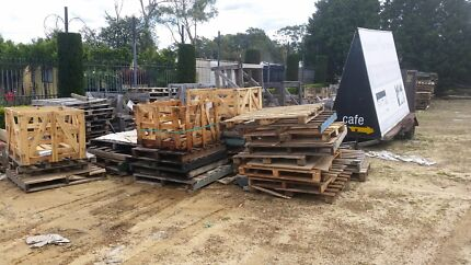 Free old pallets good for firewood projects souvenirs etc  Terrey Hills Warringah Area Preview