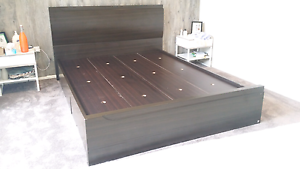 QUEEN SIZE WOODEN BED Ryde Ryde Area Preview