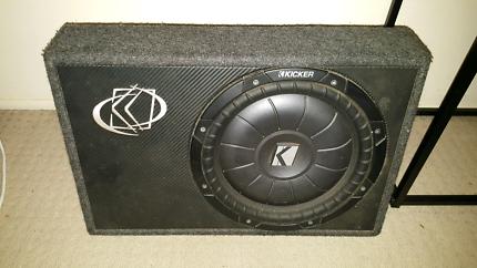 "Kicker CVT 12""  slimline subwoofer  original Kicker box"