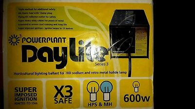 PowerPlant Daylight 600w hydroponic indoor grow light ballast