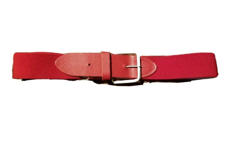 Leather Baseball, Softball, RED Belt