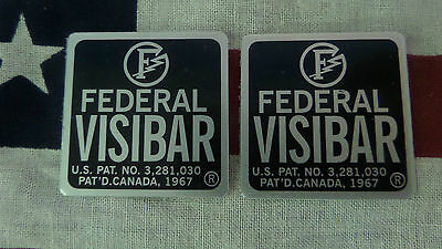 New Pair Federal Visibar Twin Beacon Ray End Cap Foil Labels