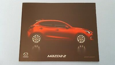 Mazda 2 SE SE-L Sport Nav GT hatchback car brochure catalogue April 2018 MINT