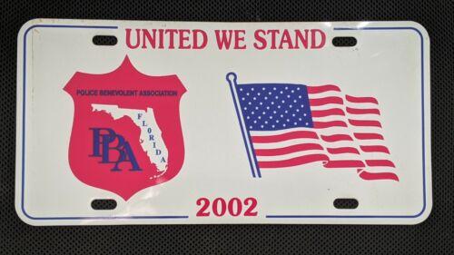 Police Benevolent Association Florida 2002 License Plate Souvenir