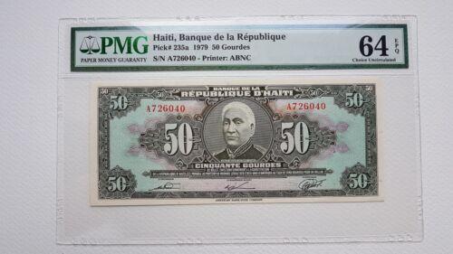 Haiti 50 Gourdes, 1979 rare  choice UNC PMG 64 EPQ, Pick # 235a